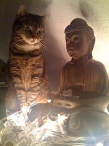 Shanti mit Buddha